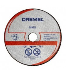 DREMEL DSM20 METAL AND PLASTIC CUTTING WHEEL (DSM510) BLISTER OF 3 PCS.