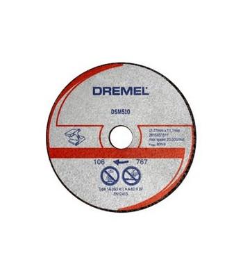DREMEL DSM20 DISCO DA TAGLIO PER METALLO E PLASTICA (DSM510) BLISTER DA 3 PZ.